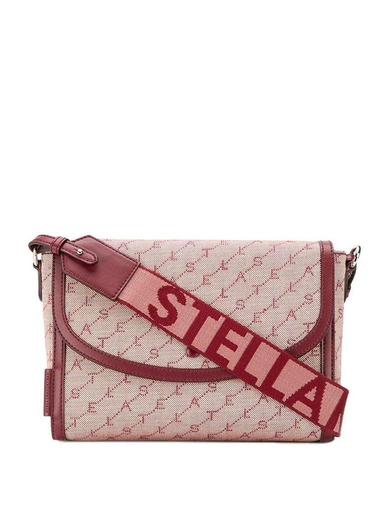 Stella McCartney monogram logo crossbody bag - Pink