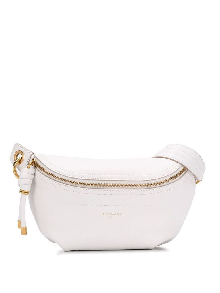 Givenchy embossed logo belt bag - White