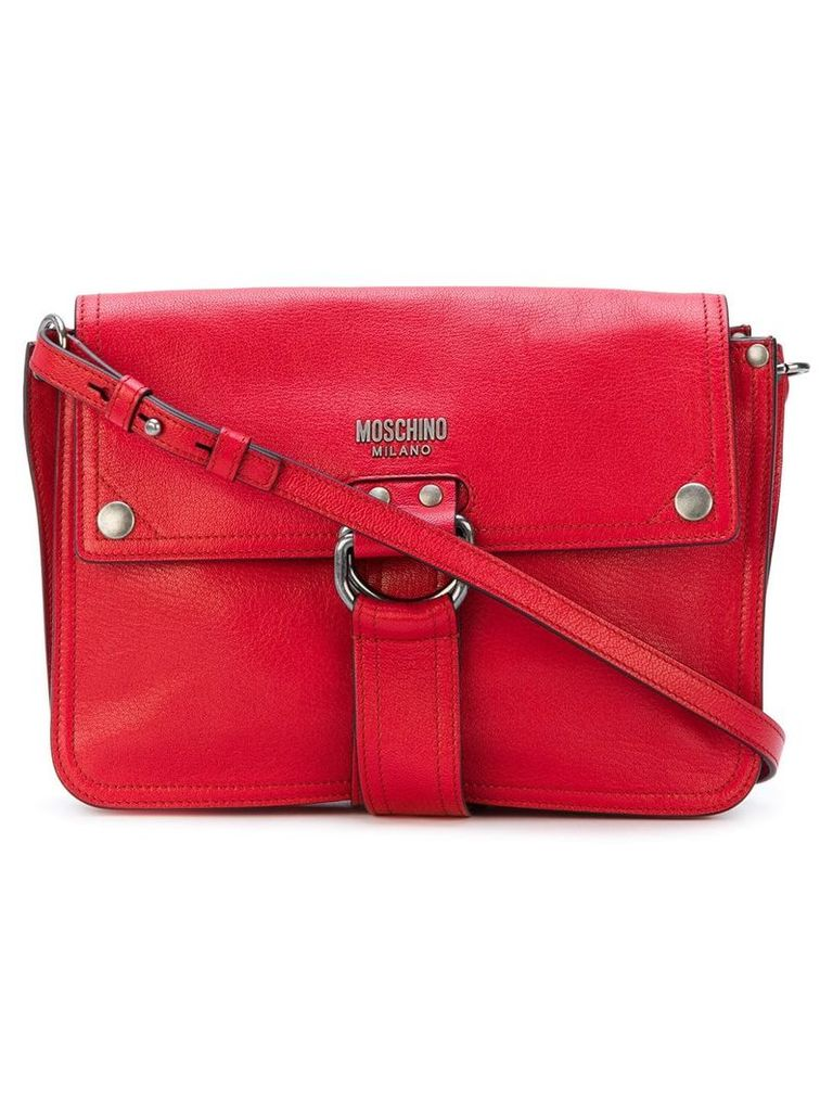 Moschino D-ring strap satchel - Red