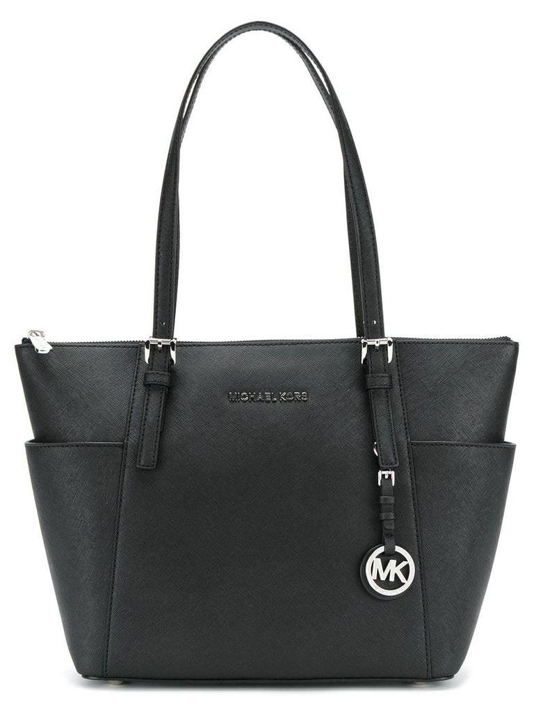 Michael Michael Kors front brand logo shoulder bag - Black