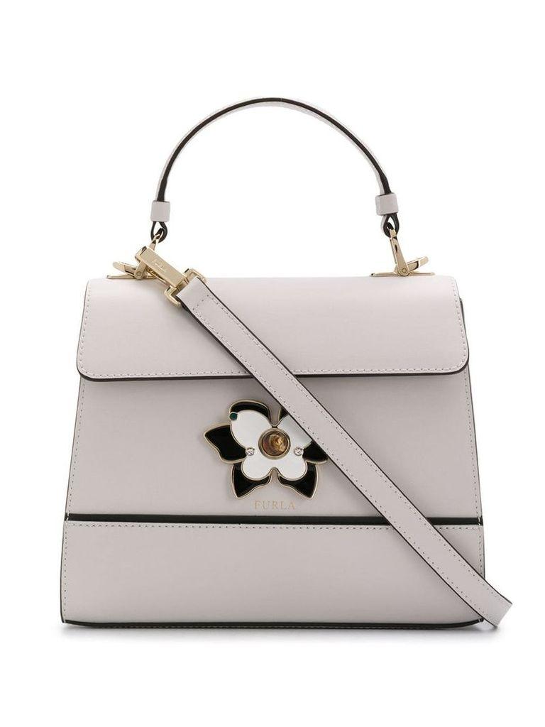 Furla crystal embellishment tote bag - Neutrals