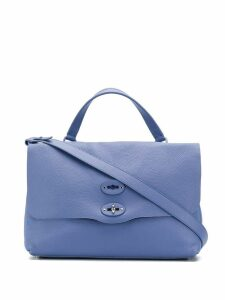 Zanellato double lock tote bag - Blue
