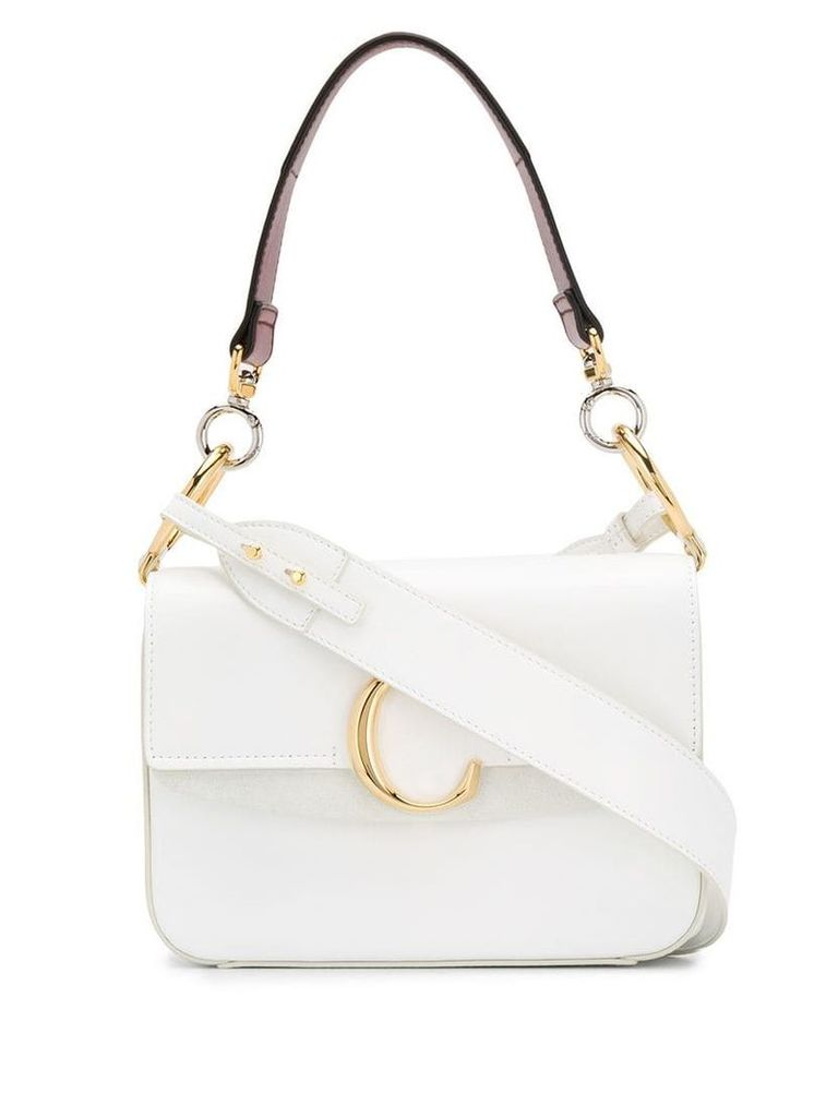 Chloé C Double shoulder bag - White