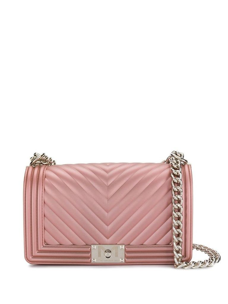 Marc Ellis foldover top chain crossbody bag - Pink