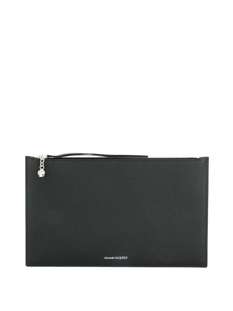 Alexander McQueen skull motif clutch bag - Black