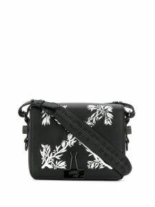 Off-White logo print shoulder bag - Black