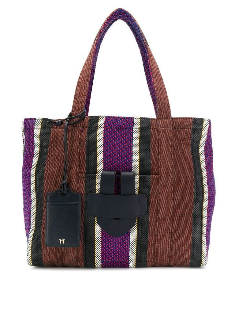 Tila March Simple Bag Ethnic M tote - Brown