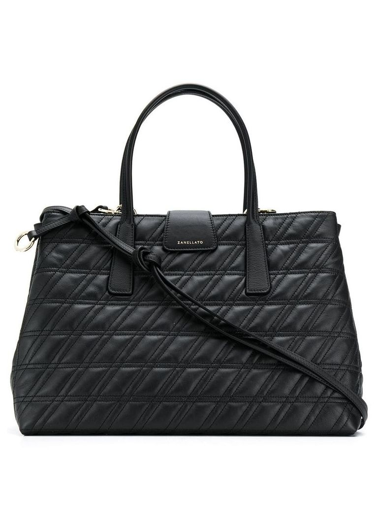 Zanellato quilted tote bag - Black