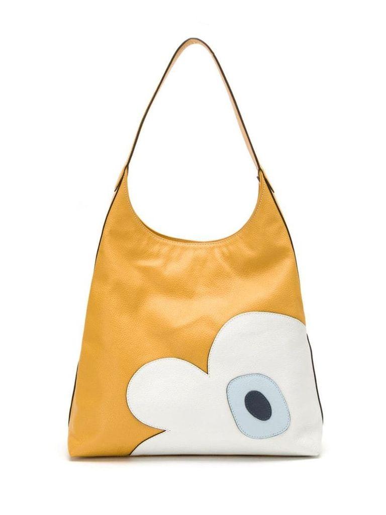 Sarah Chofakian panelled leather bag - Yellow