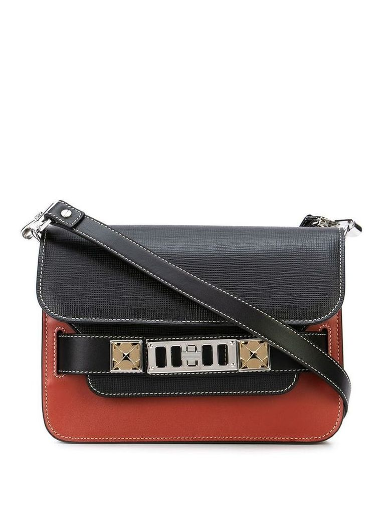 Proenza Schouler Ps11 Mini Classic-Mixed Leather Combo - Black