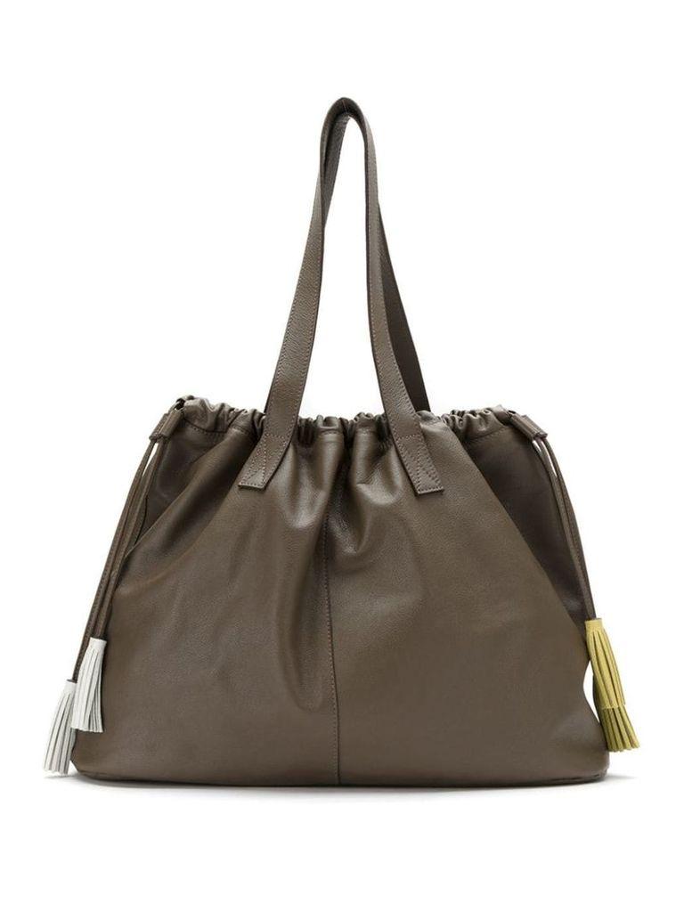 Sarah Chofakian Bella tote bag - Brown