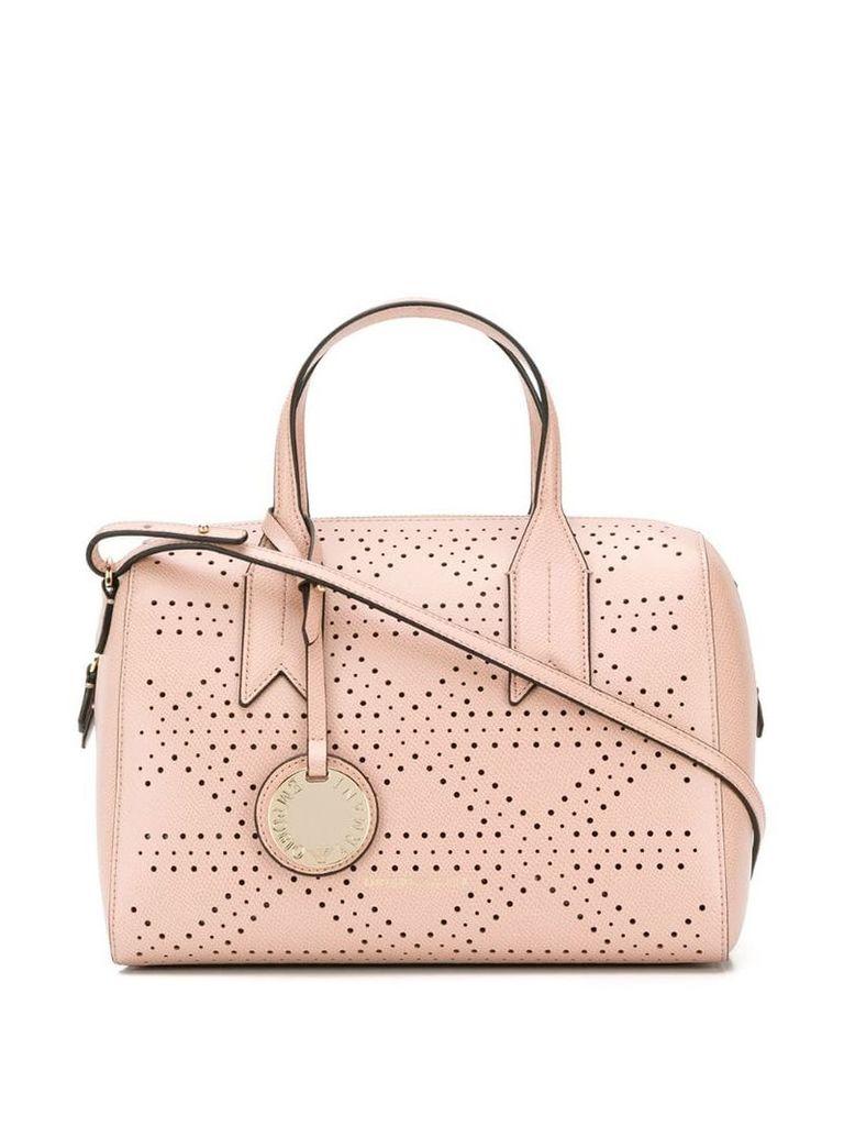 Emporio Armani logo charm tote - Pink