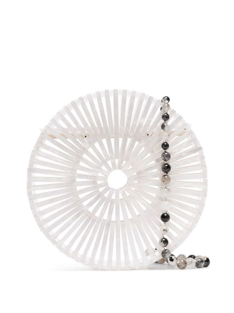 Cult Gaia Luna cross-body bag - White