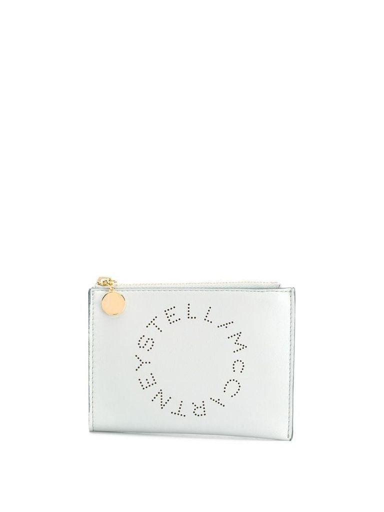 Stella McCartney perforated logo clutch - 1628