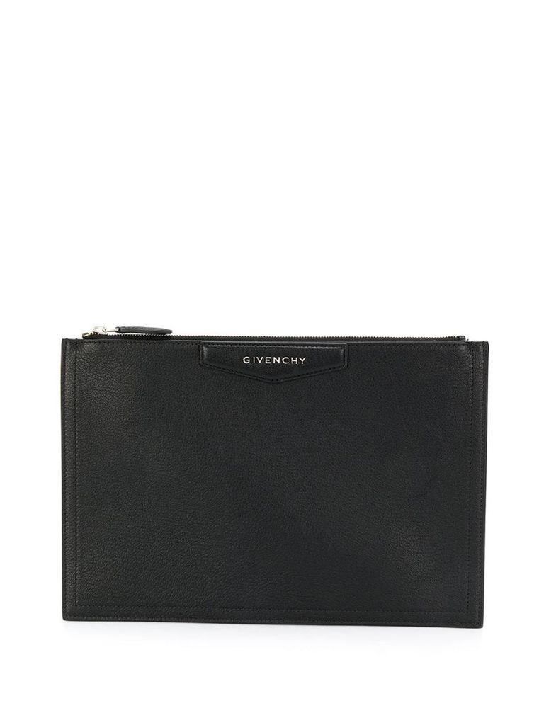 Givenchy logo print clutch bag - Black