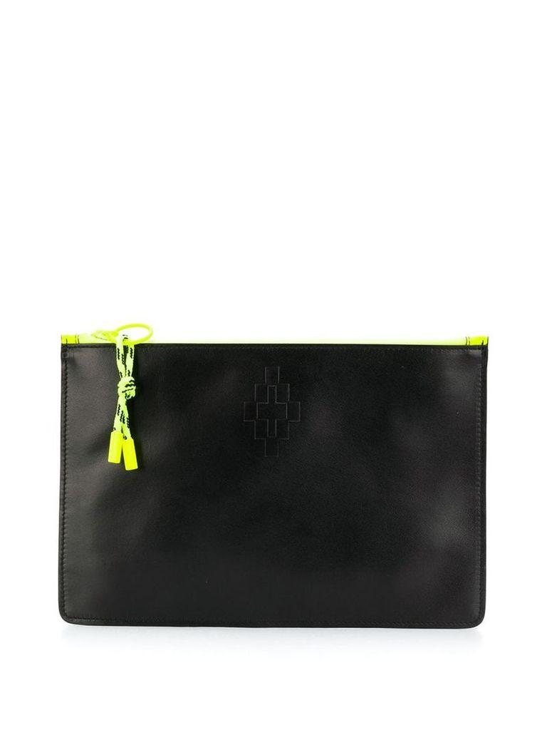 Marcelo Burlon County Of Milan logo embossed clutch bag - Black