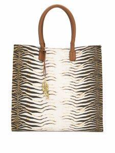Roberto Cavalli animal print shopper tote - Brown