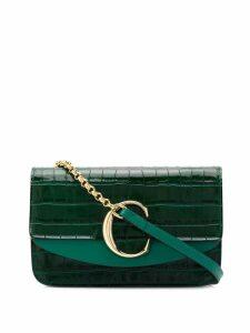 Chloé C Chain clutch - Green