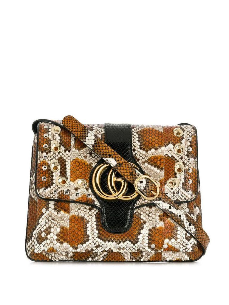 Gucci Arli python medium shoulder bag - Brown