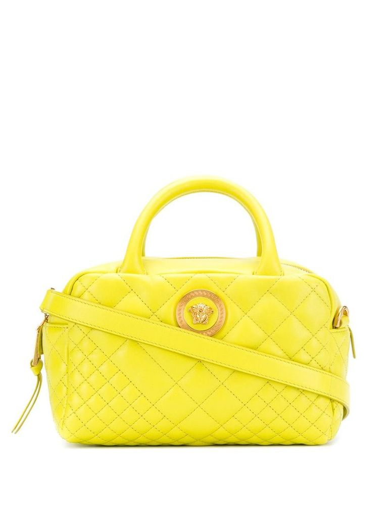 Versace logo quilted shoulder bag - Yellow