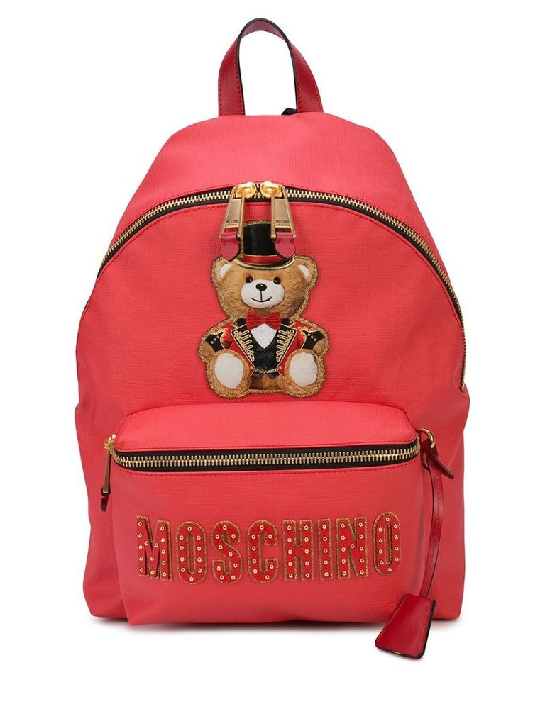 Moschino Ringmaster Teddy backpack - Red