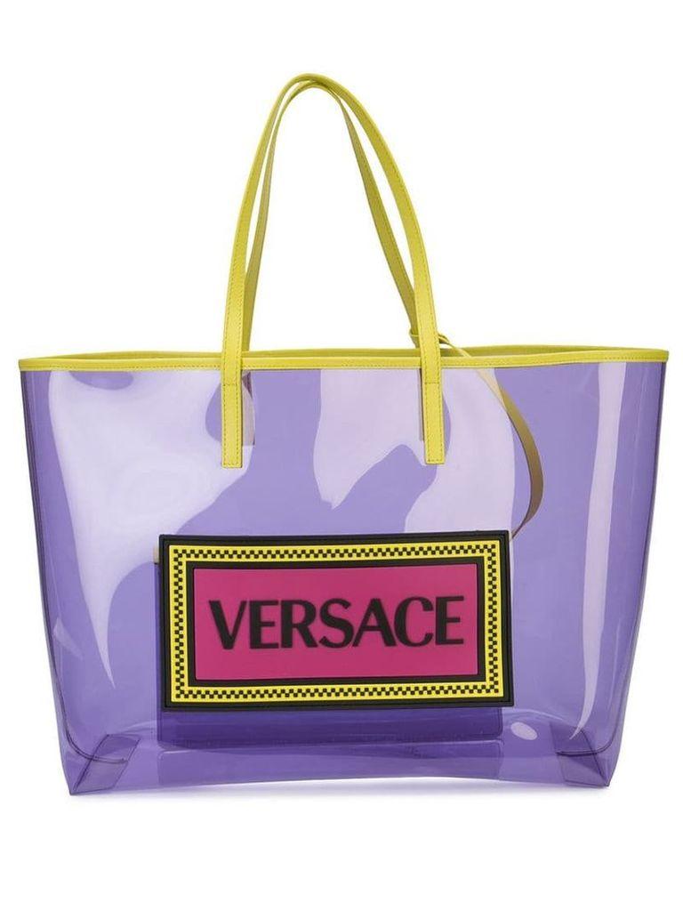 Versace PVC logo shopper tote - Purple
