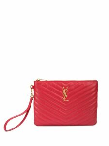 Saint Laurent Monogram clutch - Red