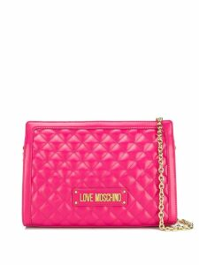 Love Moschino quilted shoulder bag - Pink