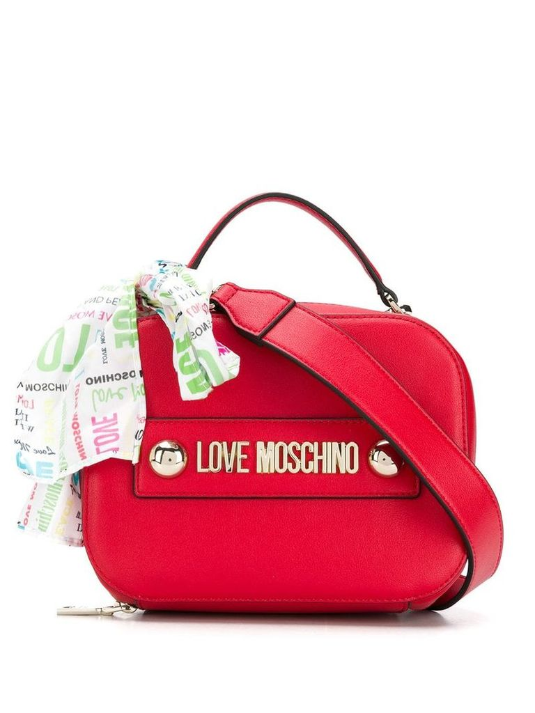 Love Moschino logo embellished tote bag - Red