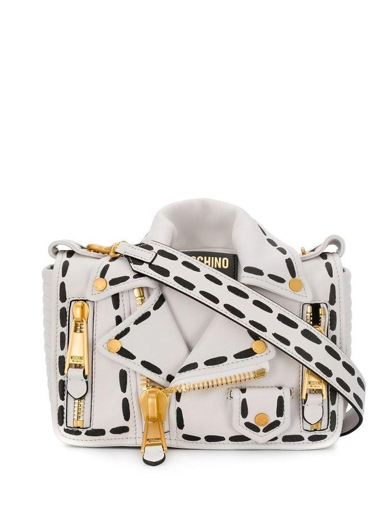 Moschino jacket shoulder bag - White