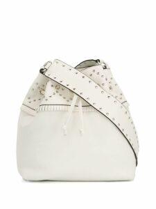 Red Valentino studded bucket bag - White