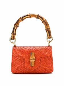 Serpui straw shoulder bag - Orange