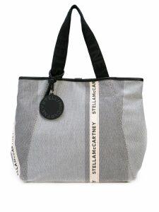 Stella McCartney patchwork logo tote bag - Black