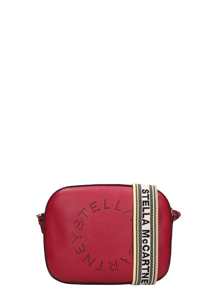 Stella McCartney Burgundy Faux Leather Mini Stella Bag