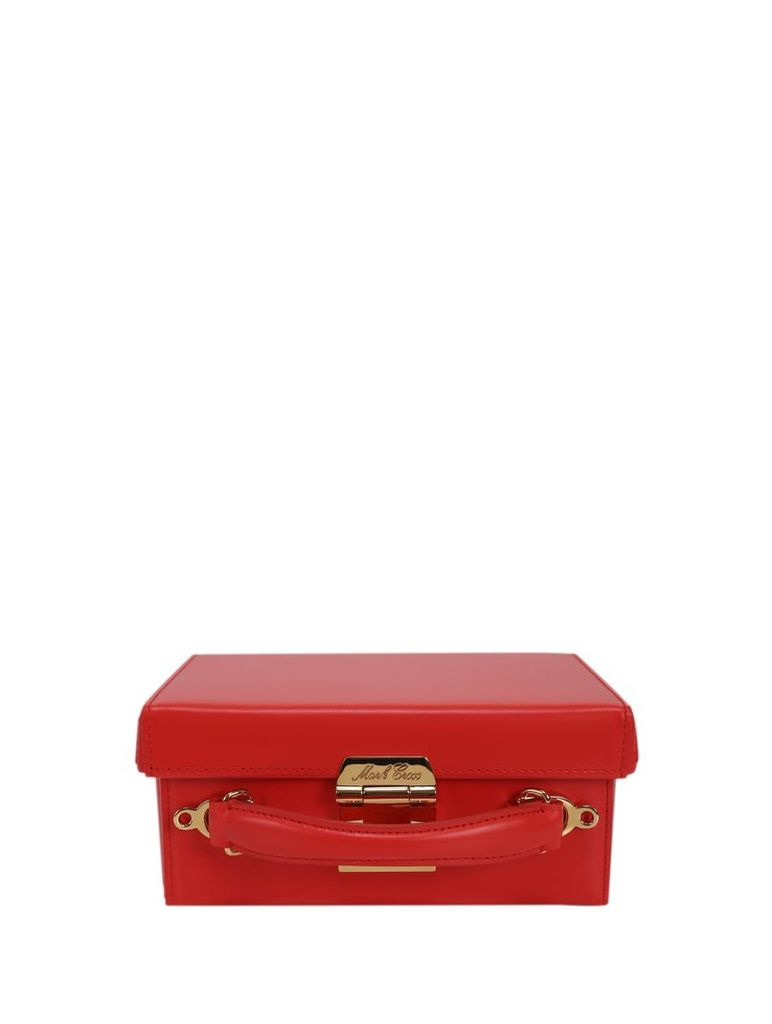 Mark Cross Red Grace Small Box Bag