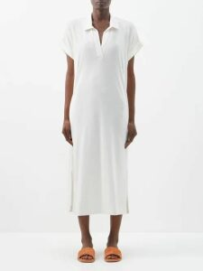Loup Charmant - Rivari Silk Crepe De Chine Midi Dress - Womens - Burgundy