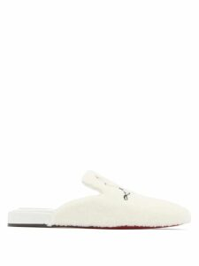 Innika Choo - Dot Embroidered Puff Sleeve Linen Mini Dress - Womens - Light Pink