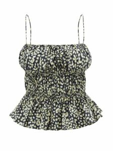 Three Graces London - Felicienne V Neck Silk Maxi Dress - Womens - Navy