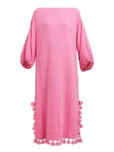 Rhode - Delilah Pom Pom Cotton Dress - Womens - Pink