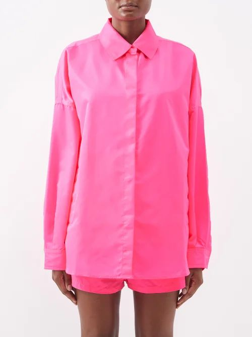 Albus Lumen - Safi Striped Single Breasted Blazer - Womens - White