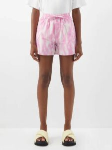 Ganni - Mahogany Ruffled Gingham Cropped Top - Womens - Yellow