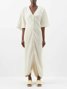 Raquel Diniz - Valentina Floral Print Silk Maxi Dress - Womens - Green Multi