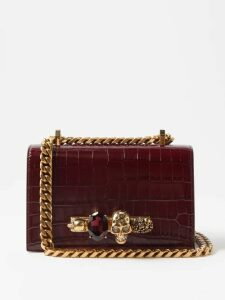 A.w.a.k.e. Mode - Maya Checked And Pleated Cotton Blend Midi Skirt - Womens - Grey Multi