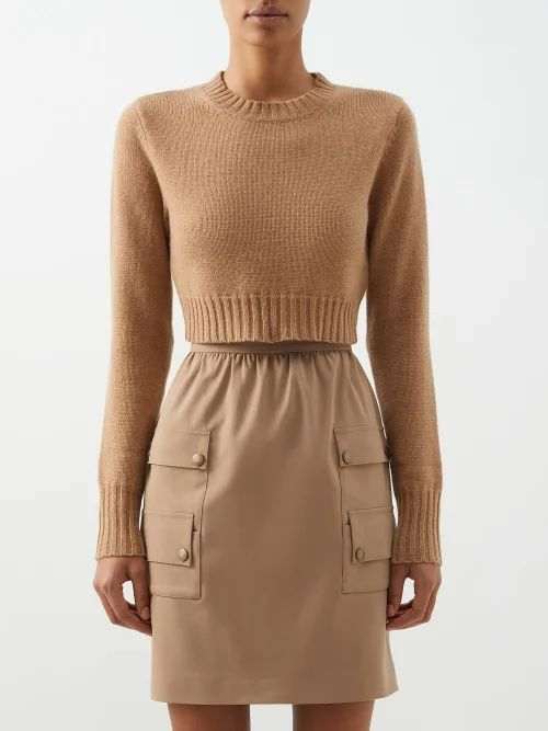 Atm - Striped Slubbed Cotton T Shirt - Womens - White Multi