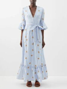 By Walid - Cedric 1920s Linen Coat - Womens - Green