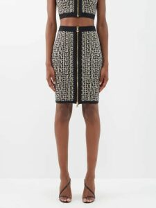Paco Rabanne - Floral Chainmail Dress - Womens - Black Red