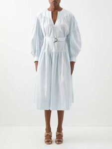 Dodo Bar Or - Maximillianne Floral Print Crepe Midi Skirt - Womens - Orange White