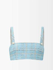 Vetements - Slit Sleeve Double Breasted Wool Blend Blazer - Womens - Navy