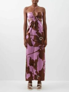 Lemaire - Oversized Draped Cotton Coat - Womens - Black