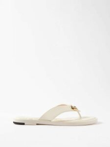 Aries - Prince Of Wales Check Cotton Blend Bouclé Blazer - Womens - Grey